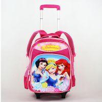 迪士尼卡通小学生彩色闪光轮可拆卸拉杆书包 儿童减负双肩背书