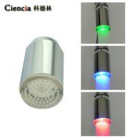 促销七彩变色发光LED淋浴花洒头 ABS塑料顶喷 水嘴莲蓬头  L05