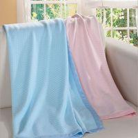竹纤维批发儿童空调毯,竹纤维透气毯,编织1.0*1.4m夏季儿童凉毯