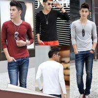 供应C0037新款韩版男士长袖T恤 潮流修身印花男式T恤上衣 男装打底衫