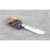 厂家大量现货供应葡萄树脂不锈钢奶油刀 儿童迷你餐具餐刀