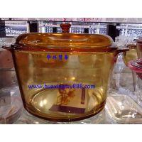 法国原装进口弓箭乐美雅进口琥珀透明直火锅 超耐热玻璃锅