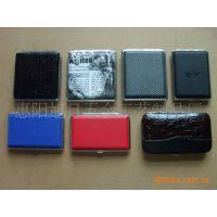 供应各种不锈钢铜铝真皮香烟盒(品牌推广定做) 纸香烟盒 烟具