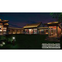 古建筑照明专家|五色领先|南宫温泉度假村仿古建筑亮化