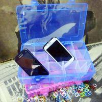 超大号15格透明多色可选塑料首饰整理收纳盒 储物收纳盒