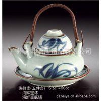 日韩式风格陶瓷餐具 海鲜壶套装 酒店酒楼餐厅料理店餐具用品批发