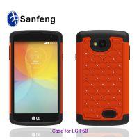 欧美范 LG系列环保二合一手机壳 F60/ls660满天星点钻手机套