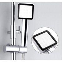 厂家直销负离子方形花洒面板浴室热水器淋浴喷头 手持单头莲蓬头