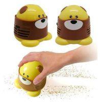 可爱卡通造型小狗吸尘器 卡通小狗吸尘器 迷你桌面吸尘器