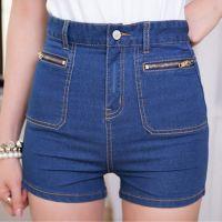 供应20104夏季新款拉链装饰女装短裤高腰时尚牛仔短裤
