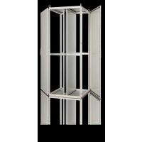 厂家加工订制生产仿威图TS十六折型材机柜并联控制柜防护等极IP55