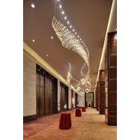 酒店琉璃玻璃吊线灯