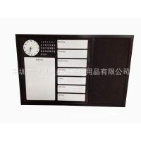 供应订制白板 时钟白板  MDF框 浙江软木板 铝框软木板