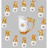 特价12生肖兽首陶瓷酒杯,会销礼品,白酒杯,送领导的礼物