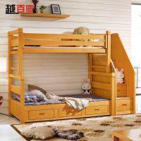 榉木子母床实木双层床 儿童床高低床上下床上下铺母子床