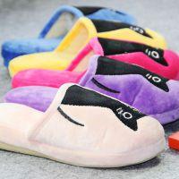 2014新款可爱卡通猫咪冬季保暖高跟女式棉拖鞋 韩版地板家居棉鞋