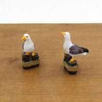 zakka 地中海风格 微景观材料迷你树脂摆件 拍摄道具小海鸥