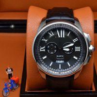 卡家品牌男士商务手表 OS石英五针多功能计时腕表 休闲皮带手表