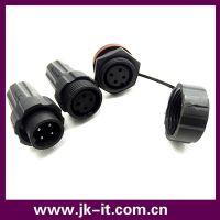 深圳捷快INST品牌M22防水连接器 4芯面板式IP68防水接头 20A电流
