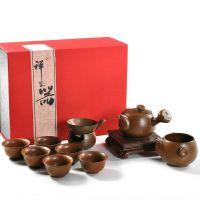供应【海州窑】台湾高档陶瓷茶具 侧把壶茶具 紫砂茶具套装混批