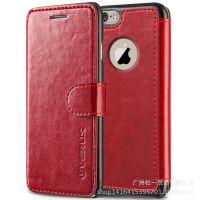 iphone6 4.7寸手机套真皮插卡支架保护壳 苹果6手机壳圆孔皮套