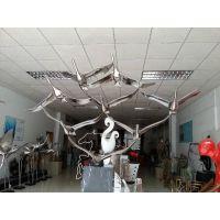 售楼中心大堂大雁不锈钢雕塑来图厂家定做景观雕塑