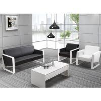 现代简约办公沙发接待区办公沙发茶几组合