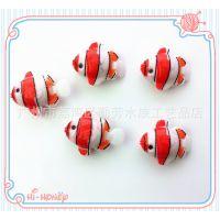 广州批发造景小鱼缸水族箱装饰小塑料鱼 假鱼塑料鱼会游动的小鱼