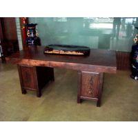 供应非洲鸡翅木茶桌茶台实木原木大板桌现货办公桌餐桌画案老板台