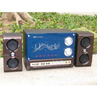 供应电脑音箱 全木质结构 钢化玻璃镜片 双高音设计 金正29B音箱