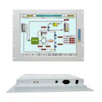 鑫博控上架式机架式白色纤薄强固钢面板17寸工业显示器VGA/BNC/DVI触摸