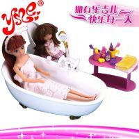淘宝热销乐吉儿 芭比娃娃套装梦幻浴室 过家家女孩玩具 正品玩具