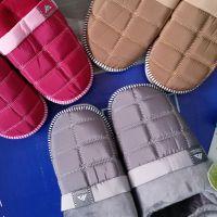 高档皮革毛毛鞋男女冬季棉拖鞋包跟厚底情侣防滑加厚保暖家居棉鞋
