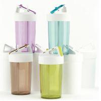 定制韩式创意加力吸管塑料环保杯户外情侣运动手提杯儿童喝水杯子
