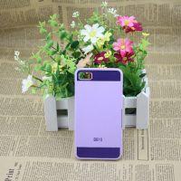 新款黑莓Z10手机保护套 黑莓BB10 PC加铝上下拉丝手机壳