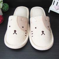出口家居拖鞋 高档毛巾拖鞋 女士绣花拖鞋 支持定做来料加工厂家