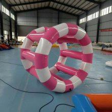 供应大型水上乐园游艺设施小型水上跑步机 水上风火轮 厂家直销充气滚球