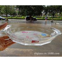 供应青苹果透明玻璃盘/鱼盘/果盘/菜盘