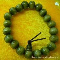 福州批发市场供应10mm绿檀佛珠手链 寺庙