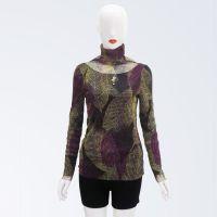 供应T恤衫2014秋装新款 韩版纯色T恤 堆堆领长袖女纯百搭打底衫