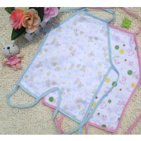 出口日本的西松屋 宝宝4层6层纱布连脚肚兜/婴儿挂脖