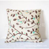 厂家加工棉麻抱枕 亚麻抱枕 动漫卡通靠垫 刺绣靠枕 床头靠枕定制