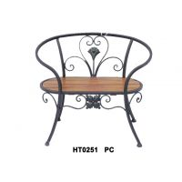 供应新款铁艺配木板公园单人椅/休闲木板椅子/户外庭院家具摆件