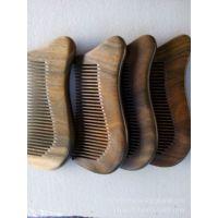 木艺饰家 厂家直供批发绿檀木短梳子 头梳 天然檀香木梳 精品款