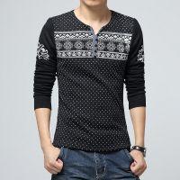 供应厂家直销冬季男士韩版修身长袖t恤加绒打底衫毛线袖拼接