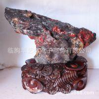 三江鸡血石 家饰景观收藏摆件 鸿运当头 风水观赏石摆件14101413