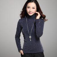 2014秋装新款韩版高领加绒加厚修身打底衫大码女装