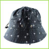 帽厂专供涤棉宽边垂钓帽|防晒印花大檐帽|透气成人58码奔尼帽子
