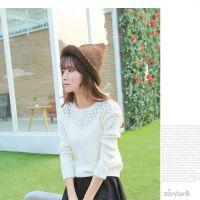 韩版冬季新品潮人出街款西西小可  精致时尚毛线编织尖头毛线帽