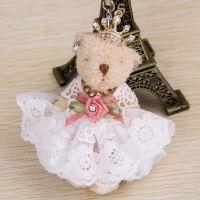 婚纱礼服女孩手机挂件礼服娃娃挂饰韩国可爱小挂件女孩手机链0405